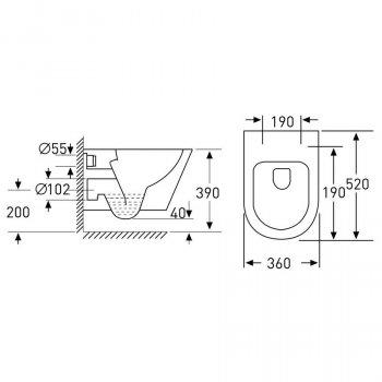 Комплект: інсталяція 4в1 + унітаз підвісний Rectangular VOLLE NEMO 13-17-316+141515