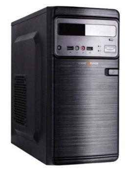 Корпус Logicpower 6106-400W 12см, 2xUSB2.0, Black