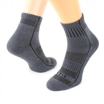 Шкарпетки трекінгові зимові Ярунь ТТЯ низькі сірі