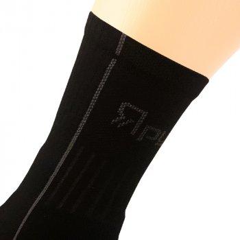 Шкарпетки трекінгові літні Ярунь середні чорні