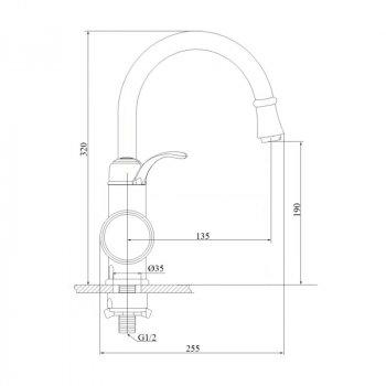 Монокран Кухонний З Електронагрівом Gf Italy (Wcr)/e - 40-120