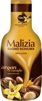 Гель-пена для душа и ванны Malizia масло Арганы и Ваниль 1000 мл (8003510025107)