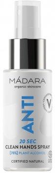 Очисний спрей для рук Madara Cosmetics Clean Hands Spray миттєвої дії 50 мл (4752223005534)