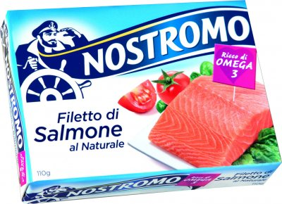 Лосось Nostromo в собственном соку 110 г (8005850186517)
