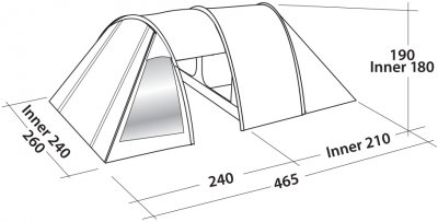Намет Easy Camp Galaxy 400 Teal Green (928301)