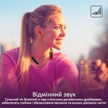 Навушники Promate Bluetooth 5 Bali Maroon (bali.maroon)