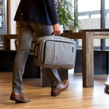 "Рюкзак трансформер для ноутбука 15.6"" Pomona Bagsmart Сірий (BM0140007A008)"