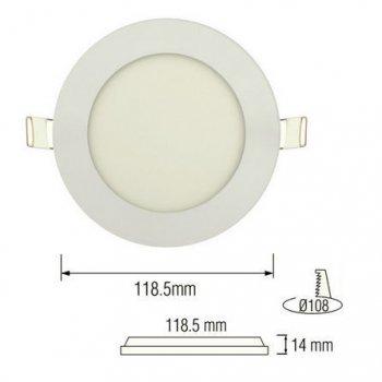 Світильник стельовий світлодіодний LED-панель Horoz Electric SLIM-6 6W 6400K 056-003-0006