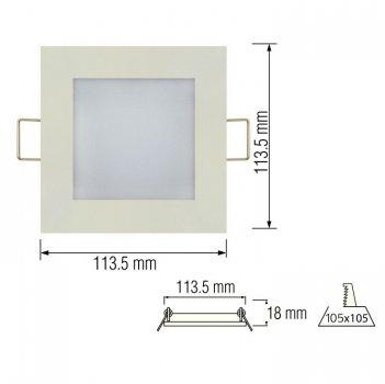 Світильник стельовий світлодіодний LED-панель Horoz Electric SLIM/Sq-6 6W 6400K 056-005-0006