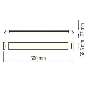 Світильник світлодіодний лінійний настінно-стельовий LED Horoz Electric TETRA-18 18W 6400K 052-003-0060