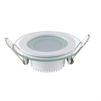 Світильник стельовий світлодіодний LED зі скляним декором Horoz Electric CLARA-6 6W 6400K 016-016-0006