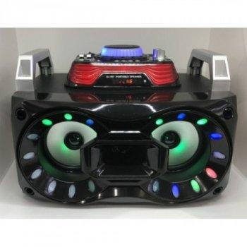 Портативна Бездротова Колонка Bluetooth AFG DJ7870 Premium з Мікшерній панеллю, чорна, акустика, акустична система, музичний центр, Bluetooth ( блютус), для будинку, дачі, кафе, природи, акумуляторна