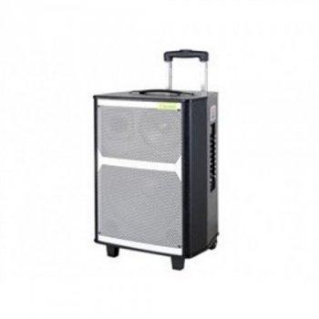 Портативна колонка Bluetooth у вигляді валізи Rock Music AFG RK-12020 Premium 80ВТ (40х35х70), чорна, акустика, акустична система, музичний центр, Bluetooth ( блютус), для будинку, дачі, кафе, природи, акумуляторна СИСТЕМА КАРАОКЕ З МІКРОФОНОМ