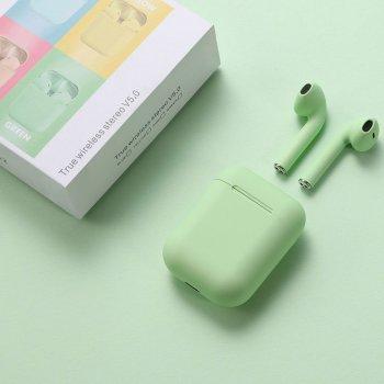 Бездротові сенсорні Bluetooth 5.0 навушники в кейсі TWS i12 inPods Green