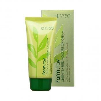 Солнцезащитный крем с зеленым чаем FarmStay Green Tea Seed Moisture Sun Cream 70 г
