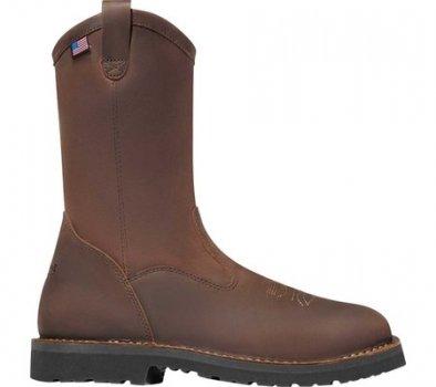"Мужские сапоги Danner Bull Run 11"" Square Toe Wellington Boot Brown Full Grain Leather (141838)"