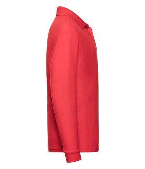 Поло Fruit of the Loom 65/35 Long sleeve polo kids Красный