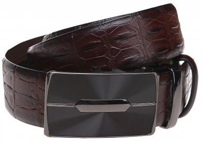 Мужской ремень кожаный Sergio Torri 10-017 115 см Коричневый (2000000016504)