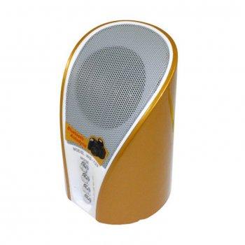 Портативна колонка Wster WS-133 з Bluetooth, FM радіо, підтримкою карт TF вбудований програвач Золотиста (11066)