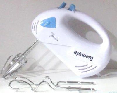 Міксер Rainberg RB-1002 ручний з 2 парами насадок 300 Вт Білий (11274)