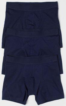 Труси-шорти H&M 564311 3 шт. Темно-сині