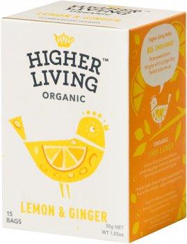 Чай Higher Living травяной органический Lemon & Ginger 15 пакетиков (5060319120177)