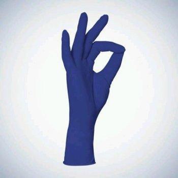 Одноразові рукавички нітрилові нестерильні без пудри Ampri Cobalt Basic Plus сині 200 шт Розмір XL