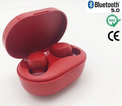 Беспроводные наушники Wi-pods M8 RED блютуз гарнитура наушники Bluetooth 5.0 с зарядным чехлом-кейсом