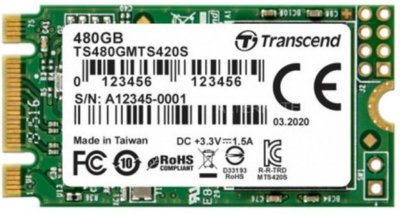 Transcend MTS420S 480GB M.2 2242 SATAIII 3D NAND TLC (TS480GMTS420S)
