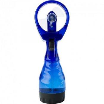 Вентилятор портативний ручний на батарейках з розпилювачем води, пульверизатор Water Spray Fan Синій (батарейки в комплекті)