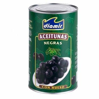 Оливки черные DIAMIR с косточкой 350г ж/б (00-00001227)