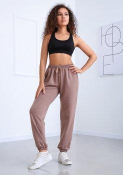 """Спортивні штани з високою талією Fashion Girl """"Matrix"""" капучино"""