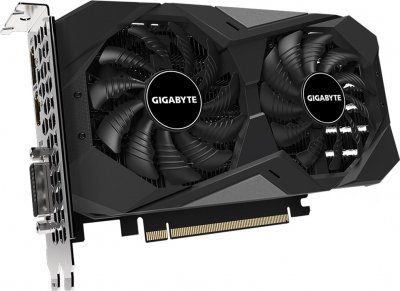 Gigabyte PCI-Ex GeForce GTX 1650 D6 Windforce OC 4GB GDDR6 (128bit) (1590/12000) (DVI-D, HDMI, DisplayPort) (GV-N1656WF2OC-4GD)