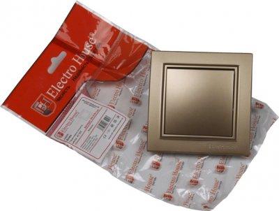 1-клавишный выключатель Electro House Роскошно золотой (EH-2181-LG)
