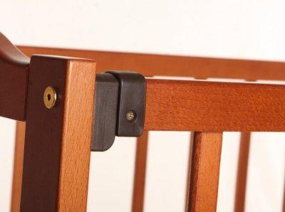 Дитяче ліжко-колиска АНАСТАСІЯ Кузя, відкидна боковинка, горіх
