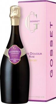Вино игристое Gosset Grande Petite Douceur Extra Dry розовое екстрасухе 0.75 л 12% (3353210058215)