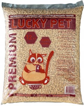 Наполнитель для кошачьего туалета Lucky Pet премиум Древесный впитывающий 12 кг (41 л) (4820224210032)
