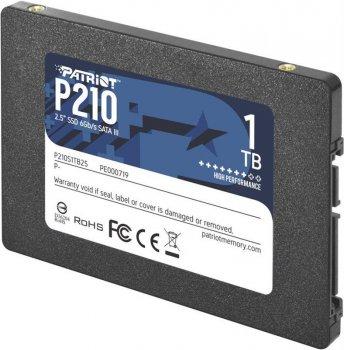 "Накопичувач SSD 1TB Patriot P210 2.5"" SATAIII TLC (P210S1TB25)"