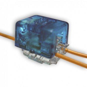 Скотчлок Kingda В-тип (двухсторонний 2 провода 0 4…0 7 мм) синий KD-TM042-B