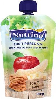 Упаковка фруктового пюре Nutrino мікс з яблука, банана та печива 220 г х 6 шт. (8606019657550)