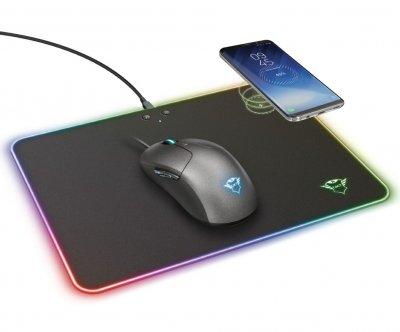 Килимок для мишки Trust GXT 750 Qlide RGB з безпровідною зарядкою (23184)