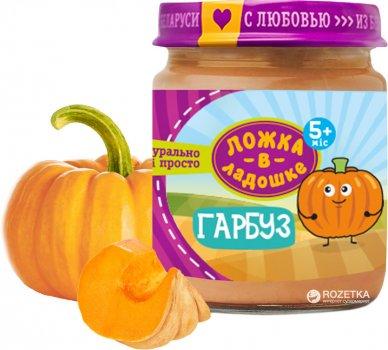 Упаковка овочевого пюре Ложка в ладошке Гарбуз з 5 місяців 100 г х 6 шт. (4815396001335)