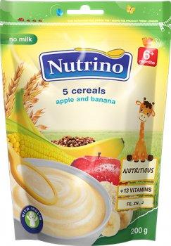 Безмолочна каша Nutrino 5 злаків з яблуком і бананом з 6 місяців 200 г (8606019652722)