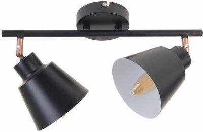 Світильник спотовий Brille HTL-208/2 E14 BK/Cooper (26-791)
