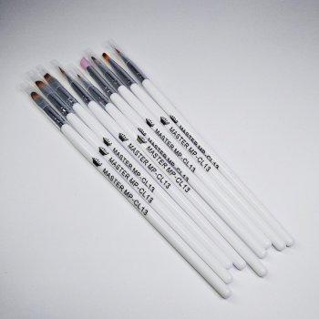 Кисти для наращивания и дизайна ногтей Master Professional CL-13 (набор 9 шт)
