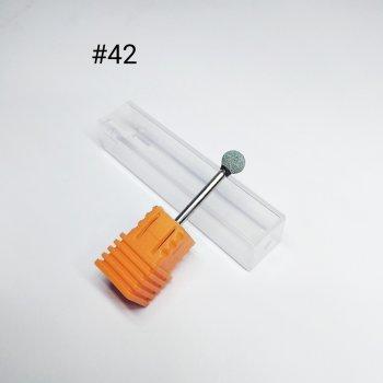 Корундова насадка для манікюру/педикюру сіра №42