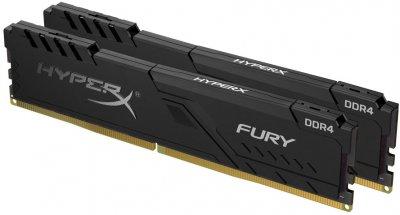 Оперативная память HyperX DDR4-2666 32768MB PC4-21300 (Kit of 2x16384) Fury Black (HX426C16FB4K2/32)