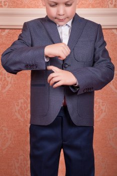 Школьный пиджак на пуговицах Новая Форма синий 2710