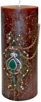 Свеча Scorpio Цилиндр 757997 10.5х25 см Шоколад (4820007579974)