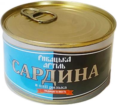 Сардина Рыбацкая Артель Рижская в масле 230 г (4820186880038)